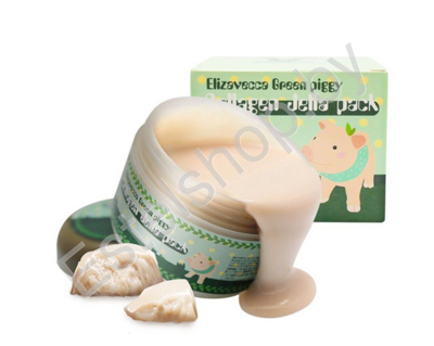 Маска для лица желейная с коллагеном Лифтинг ELIZAVECCA Green Piggy Collagen Jella Pack 100 мл